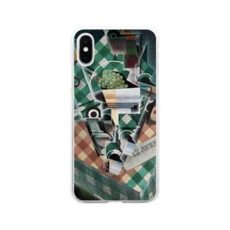 フアン・グリス 《チェックのテーブルクロスのある静物》 Soft Clear Smartphone Case