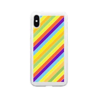 パステル Soft clear smartphone cases