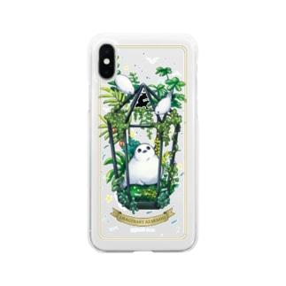 アザリウム(背景クリア) Soft clear smartphone cases