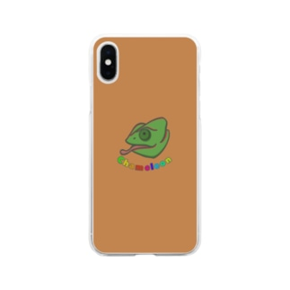 prunelleのカメレオン Soft clear smartphone cases