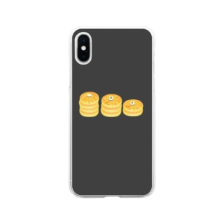 パンケーキたべたい! Soft clear smartphone cases
