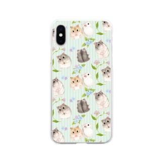 ジャンガリアンハムスターのスマホケースB Soft clear smartphone cases
