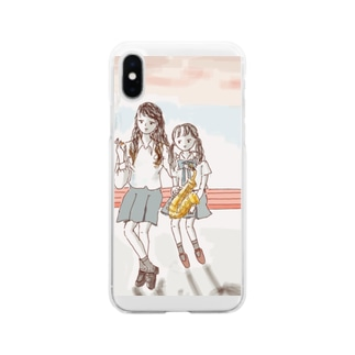 先輩 Soft clear smartphone cases