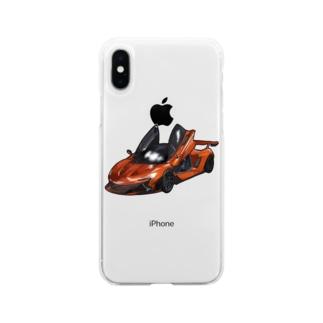 クルマのイラスト Soft clear smartphone cases
