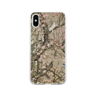 伊藤若冲 《桃花小禽図》 Soft Clear Smartphone Case