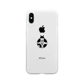テントウアイコン Soft Clear Smartphone Case