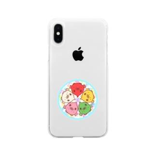 ダンゴウオの輪 Soft clear smartphone cases