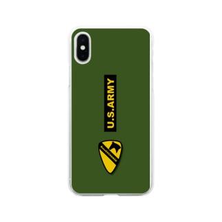 第一騎兵師団 usarmy BaseEXCHANGE Soft clear smartphone cases