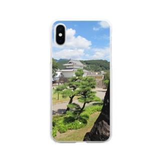 日本の城:甲府城稲荷櫓の風景写真 Japanese castle: Inariyagura of Kofu castle Soft clear smartphone cases