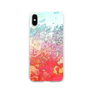 fire on the sea Soft clear smartphone cases