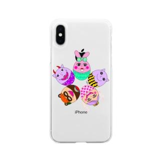 ちょりたん画伯キャラクターズ イースターバージョン Soft clear smartphone cases