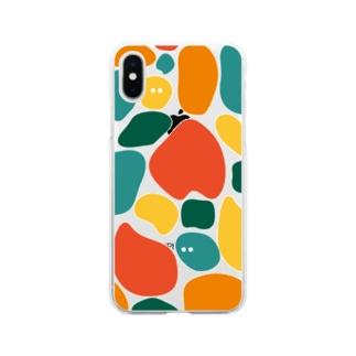 いっぱい(夕暮れ) Soft clear smartphone cases