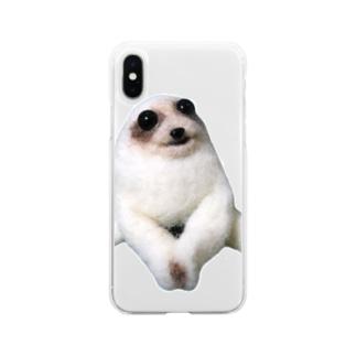 ナマケモノ Soft clear smartphone cases