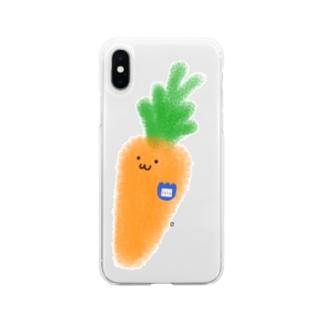まだ幼稚園生のにんじん Soft clear smartphone cases