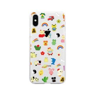 おしゃれフォン(クリア) Soft clear smartphone cases