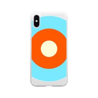 サークルa・水色3・オレンジ・クリーム Soft clear smartphone cases