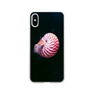 頭足類:オウムガイの水中写真 Nautilus Soft clear smartphone cases