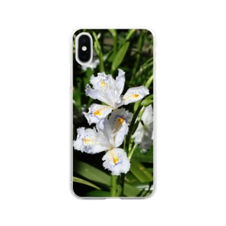 日本の花:ヒメシャガ Iris gracilipes A. Gray Soft clear smartphone cases