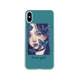 しゃるがふのkarasuageha Soft clear smartphone cases