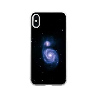 子持ち銀河 Soft clear smartphone cases