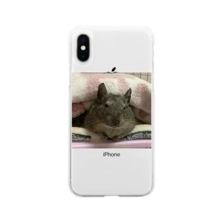 寝起きデグー Soft clear smartphone cases