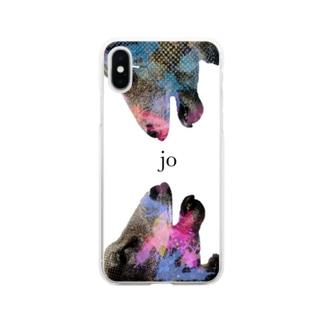垣間見える狂気 jo Soft clear smartphone cases