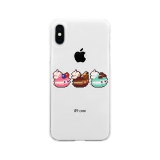 ドット絵マカツムリ Soft Clear Smartphone Case