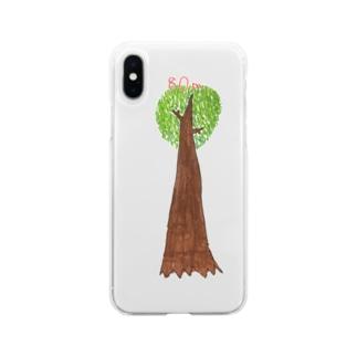 ジャンアントセコイア Soft clear smartphone cases