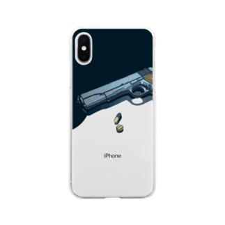 アブないものども_縦向き Soft clear smartphone cases