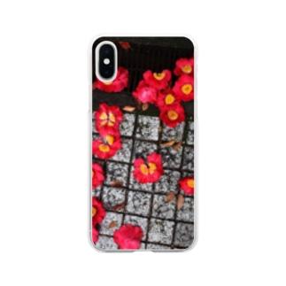 お花 Soft clear smartphone cases