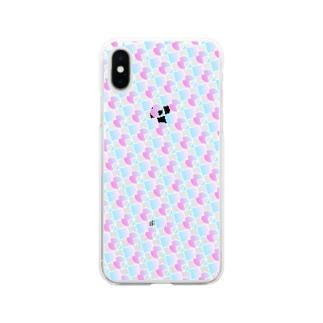 模様218 Soft clear smartphone cases