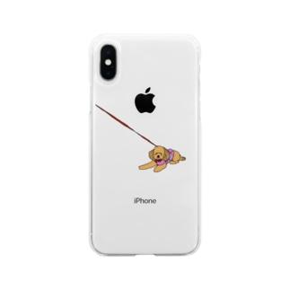 動かないアンちゃん Soft clear smartphone cases