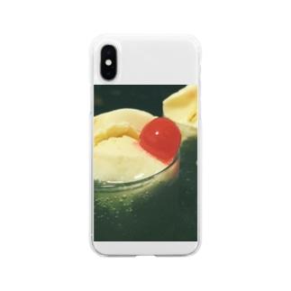 くりーむそーだの世界 Soft clear smartphone cases