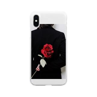 チャンポニ 薔薇 Soft clear smartphone cases