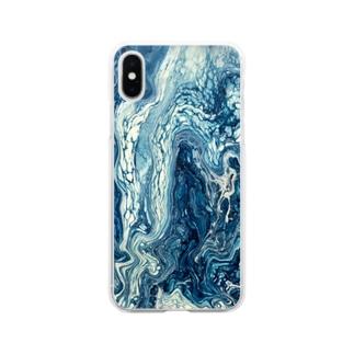滲む空 Soft clear smartphone cases