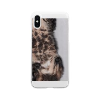ねこうら Soft clear smartphone cases