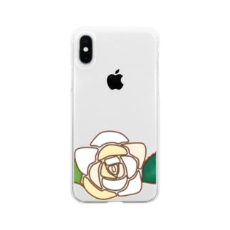 白薔薇WWW  Soft clear smartphone cases