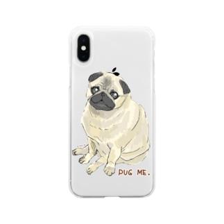 パグ ME🌸 Soft clear smartphone cases