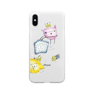 おはなし ぴょちゃん Soft clear smartphone cases