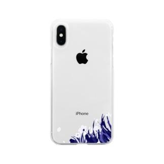 お花畑 Soft clear smartphone cases