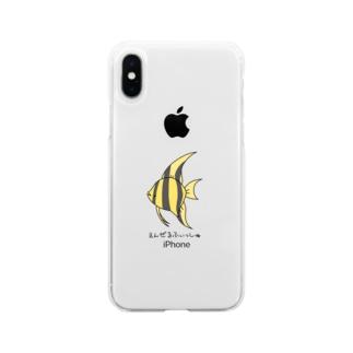 888記念えんぜるふぃっしゅ Soft clear smartphone cases