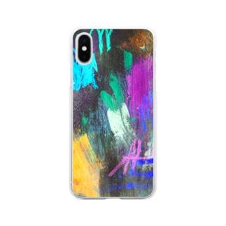 紫の夫人が大根を呼んでる Soft clear smartphone cases