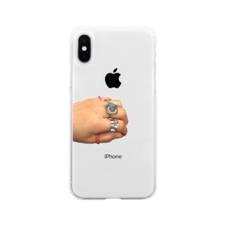 手(リングコレクション) Soft clear smartphone cases