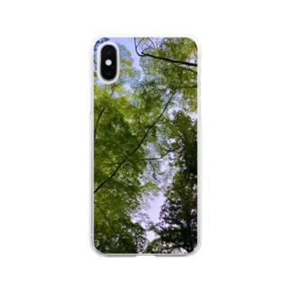 新緑の隙間 Soft clear smartphone cases