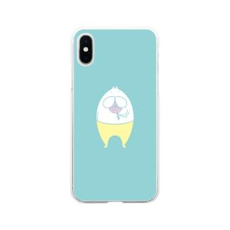 ねこタイツ キャンディー ライトグリーン Soft clear smartphone cases