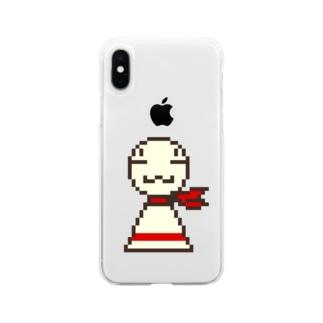 ドット絵まめてる Soft clear smartphone cases