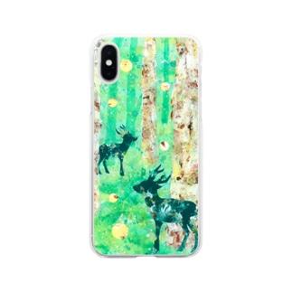 春の森のスマホケース Soft Clear Smartphone Case