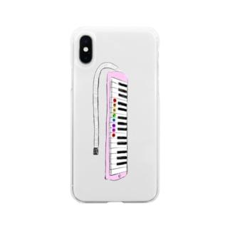 はじめてのけんばんハーモニカ Soft Clear Smartphone Case