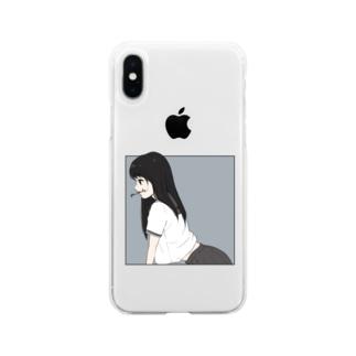 放課後 口消し Soft Clear Smartphone Case