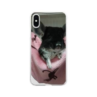 チンチラちゃん Soft clear smartphone cases